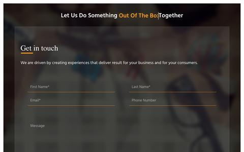Screenshot of Contact Page webinacube.com - Contact Us – WEBINACUBE | Best Web Design Company - captured Oct. 27, 2017