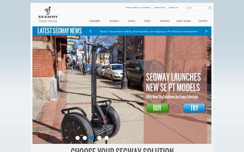 Screenshot of Home Page segway.com - Segway - The leader in personal, green transportation - captured July 11, 2014