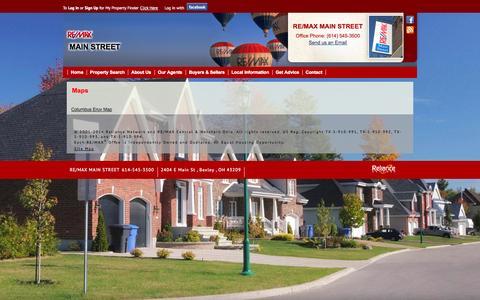 Screenshot of Maps & Directions Page mainrealtors.com captured Oct. 7, 2014