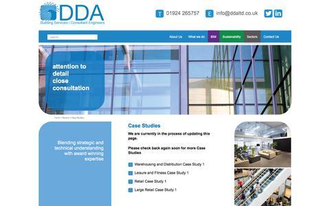 Screenshot of Case Studies Page ddaltd.co.uk - M & E - DDA - 01924 265757 - captured Jan. 7, 2016