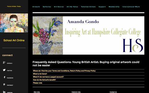 Screenshot of FAQ Page schoolartonline.com - School Art Online | Frequently Asked Questions - captured Sept. 30, 2014