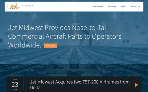 Screenshot of Home Page jetmidwest.com - Jet Midwest Aviation - captured Sept. 7, 2015