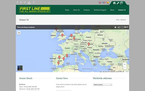 Screenshot of Contact Page firstline.co.uk - First Line   –  Contact Us - captured Oct. 6, 2014