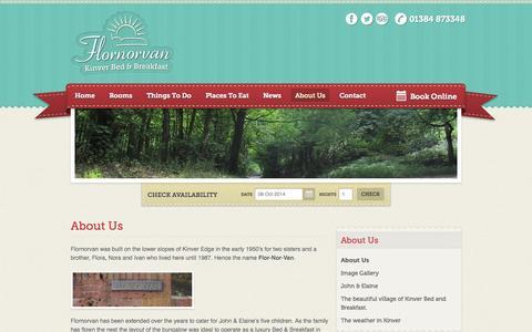 Screenshot of About Page kinverbedandbreakfast.co.uk - Stourbridge b&b - captured Oct. 6, 2014