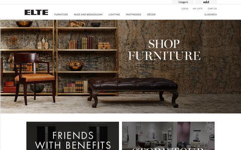 Screenshot of Home Page elte.com - Home - ELTE - captured Dec. 9, 2015