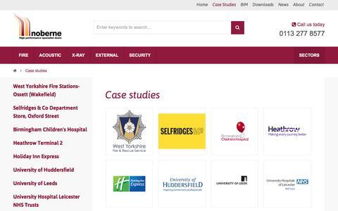 Screenshot of Case Studies Page nobernedoors.co.uk - Case Studies Of Our Work | Noberne Doors - captured Dec. 15, 2016
