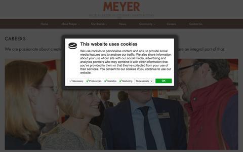 Screenshot of Jobs Page meyergroup.co.uk - Careers - Meyer Group - captured Oct. 18, 2018
