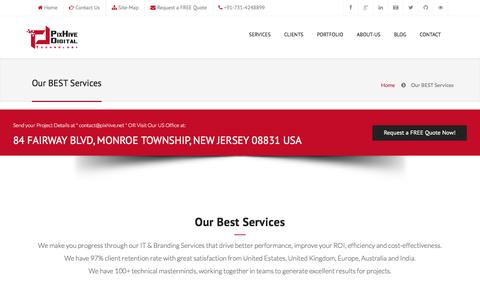 Screenshot of Services Page pixhive.net - Services PixHive iOS Android Apps Responsive Web Design E-commerce Website Development - captured Dec. 9, 2015