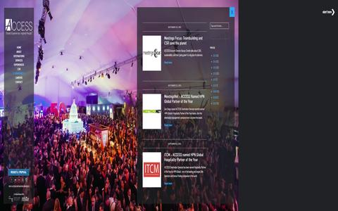 Screenshot of Press Page accessdmc.com - Press   ACCESS Destination Services - captured Dec. 12, 2015