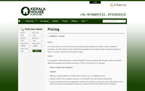 Screenshot of Pricing Page keralahouseplots.com - Pricing | Kerala House Plots - captured March 27, 2016