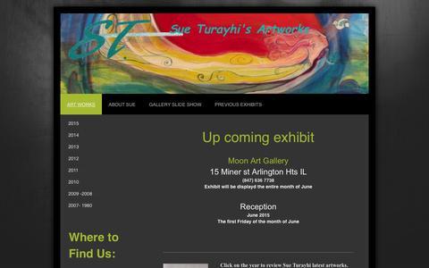 Screenshot of Home Page sueturayhi.com - Sue Turayhi Arts work - Art works - captured Sept. 11, 2015