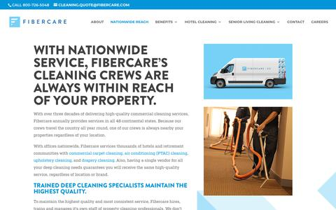 Screenshot of Locations Page fibercare.com - Locations - Nationwide Hotel Cleaning Service | Fibercare.com - captured Sept. 11, 2019