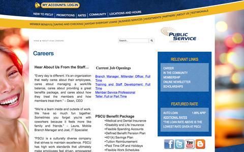 Screenshot of Jobs Page pscunow.com - Careers - captured Nov. 2, 2014