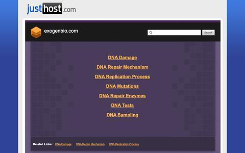 Screenshot of Login Page exogenbio.com - Welcome exogenbio.com - Justhost.com - captured Sept. 29, 2018