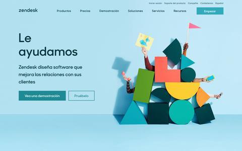 Screenshot of Home Page zendesk.es - Zendesk   Software de atención al cliente y sistema de tickets de soporte - captured June 28, 2017
