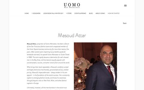 How we started — Uomo San Francisco | Designer European Luxury Menswear and Accessories