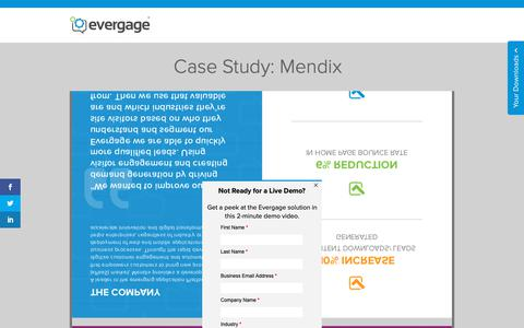 Screenshot of Case Studies Page evergage.com - Evergage | Case Study: Mendix - captured May 24, 2019
