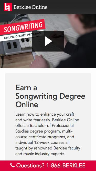 Earn a Degree Online with Berklee