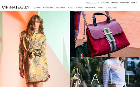 Screenshot of Home Page cynthiarowley.com - Cynthia Rowley -  The Official Cynthia Rowley Online Shop - captured Nov. 16, 2016