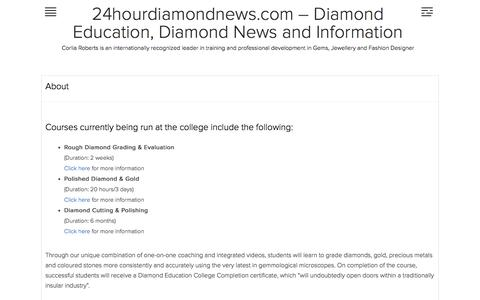 About | 24hourdiamondnews.com – Diamond Education, Diamond News and Information