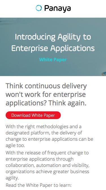 Experience Enterprise Agility