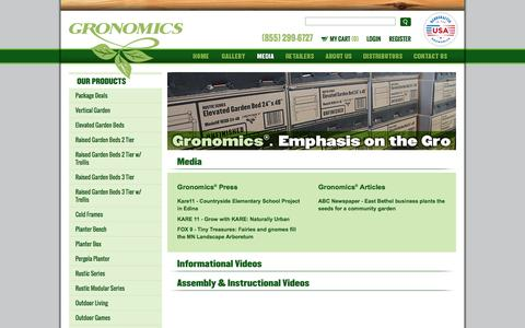 Screenshot of Press Page gronomics.com - Gronomics - captured Dec. 15, 2015