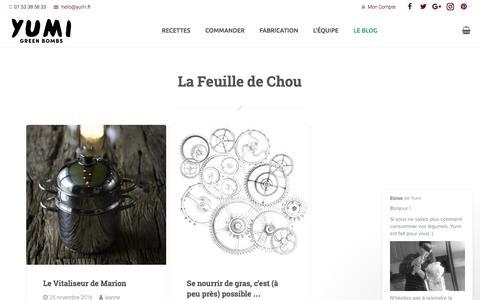 Screenshot of Blog yumi.fr - La Feuille de Chou - Le Blog de Yumi - captured Nov. 28, 2016