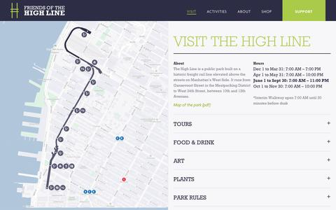 Screenshot of Maps & Directions Page thehighline.org - Visit the High Line | Friends of the High Line - captured Sept. 25, 2014