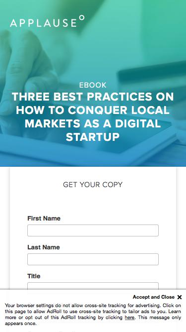 eBook: Three Best Practices on how to conquer local markets as a digital startup