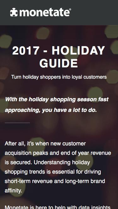 2017 - Holiday Guide | Monetate