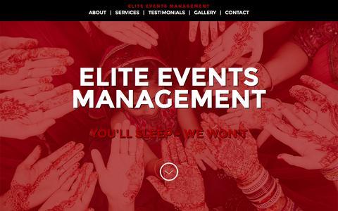Screenshot of Home Page eem-llc.com - Elite Events Management, LLC - captured Oct. 2, 2014