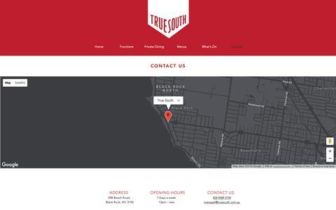 Screenshot of Contact Page truesouth.com.au - Contact | True South - captured Oct. 20, 2018