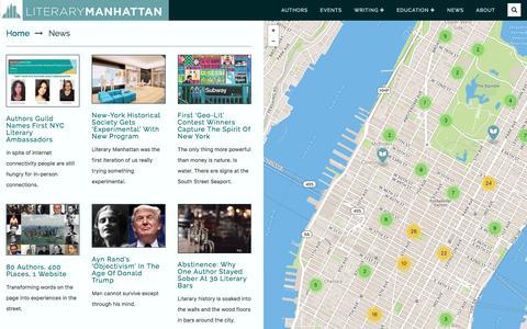Screenshot of Press Page literarymanhattan.org - Literary Manhattan | News |   News - captured July 20, 2018