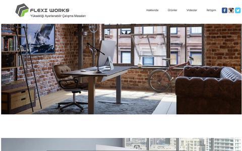 Screenshot of Home Page flexiworks.net - FLEXI WORKS Yüksekliği Ayarlanabilir Çalışma Masası - captured June 5, 2017