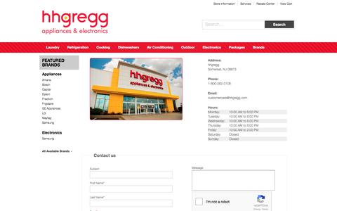 Screenshot of Contact Page Locations Page hhgregg.com - Contact hhgregg in New Jersey - captured Nov. 17, 2017