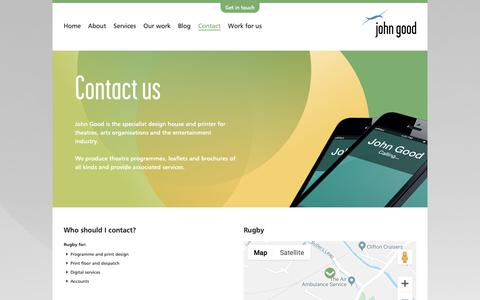 Screenshot of Contact Page johngood.com - John Good - Contact - captured Dec. 7, 2018