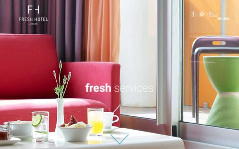 Screenshot of Services Page freshhotel.gr - At your service, with a fresh feeling - captured Oct. 11, 2018