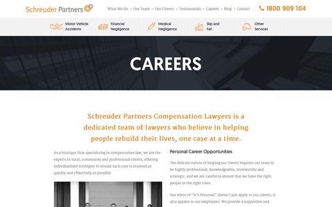 Screenshot of Jobs Page schreuderpartners.com.au - Career Opportunities - Schreuder Partners - captured Feb. 4, 2016