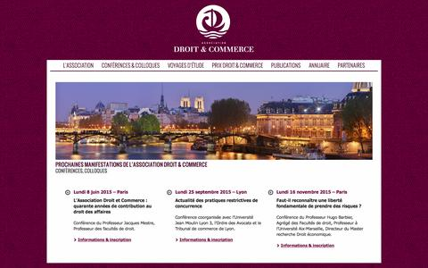 Screenshot of Home Page droit-et-commerce.org - Droit & Commerce | - captured June 22, 2015