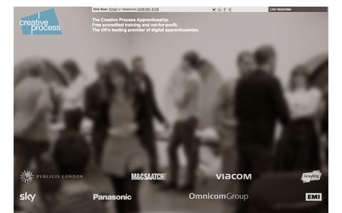 Screenshot of Jobs Page digital-apprentice.co.uk - Creative Process - captured Oct. 3, 2014