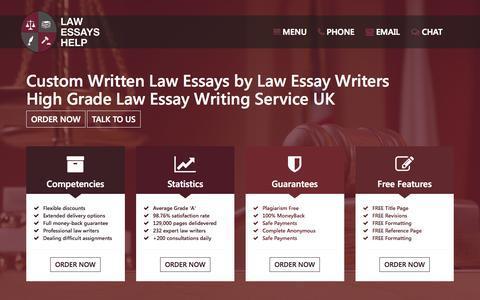 Screenshot of Home Page lawessayshelp.co.uk - Law Essay Help UK, Law Essays Writers, Law Essay Writing Service - captured Oct. 1, 2015