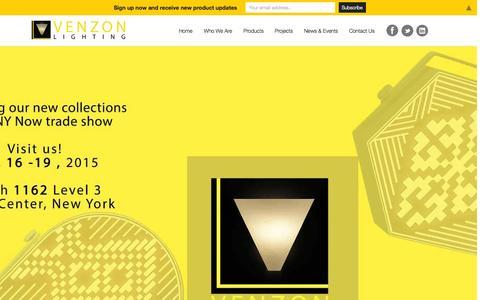Screenshot of Home Page venzonlighting.com - Home - Venzon Lighting - captured Sept. 1, 2015