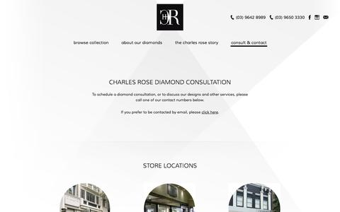 Screenshot of Contact Page charlesrose.com.au - consult & contact   Charlesrose - captured Oct. 1, 2014
