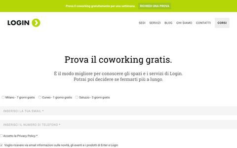 Screenshot of Trial Page coworkinglogin.it - Free Trial: Contattaci Per Una Prova Gratuita - captured July 24, 2015