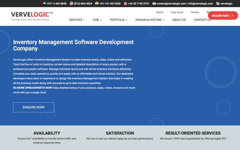 Screenshot of vervelogic.com - Best Inventory Management Software Development Company in India- VerveLogic - captured Jan. 1, 2018