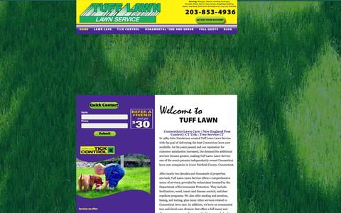 Screenshot of Home Page tufflawn.com - Connecticut Lawn Care | New England Pest Control | Tree Service CT - captured Oct. 5, 2014