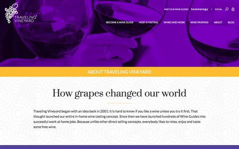 Screenshot of About Page travelingvineyard.com - About Traveling Vineyard: Work at Home Jobs in Wine Direct Sales - captured Dec. 22, 2016