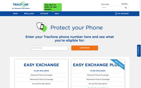 TracFone Insurance - Protect Your Phone | TracFone Wireless