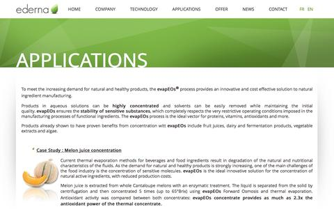 Screenshot of Case Studies Page ederna.com - Applications - ederna - captured Dec. 6, 2015