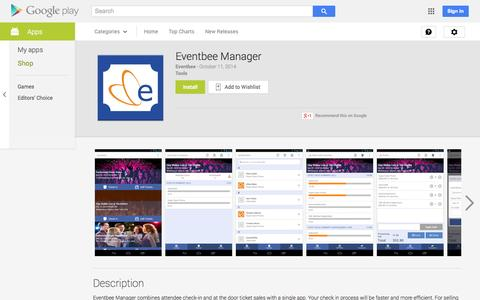 Screenshot of Android App Page google.com - Eventbee Manager - Android Apps on Google Play - captured Oct. 28, 2014